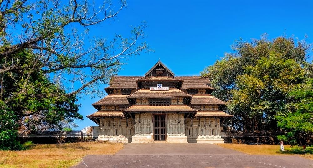 Thrissur temple, Thrissur, Temple, Kerala, sky, blue,